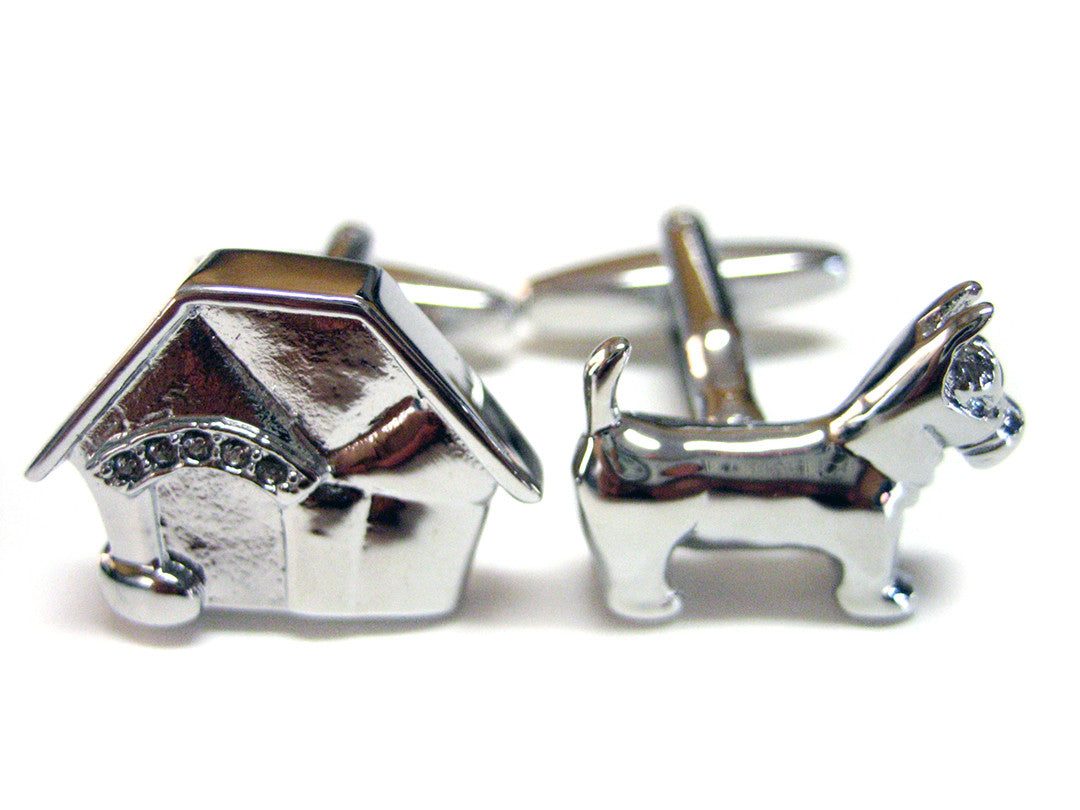 Dog with Dog House Cufflinks
