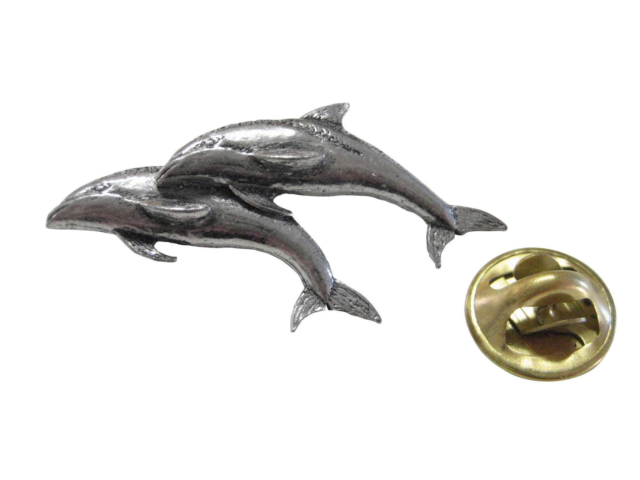 Pair of Dolphins Lapel Pin