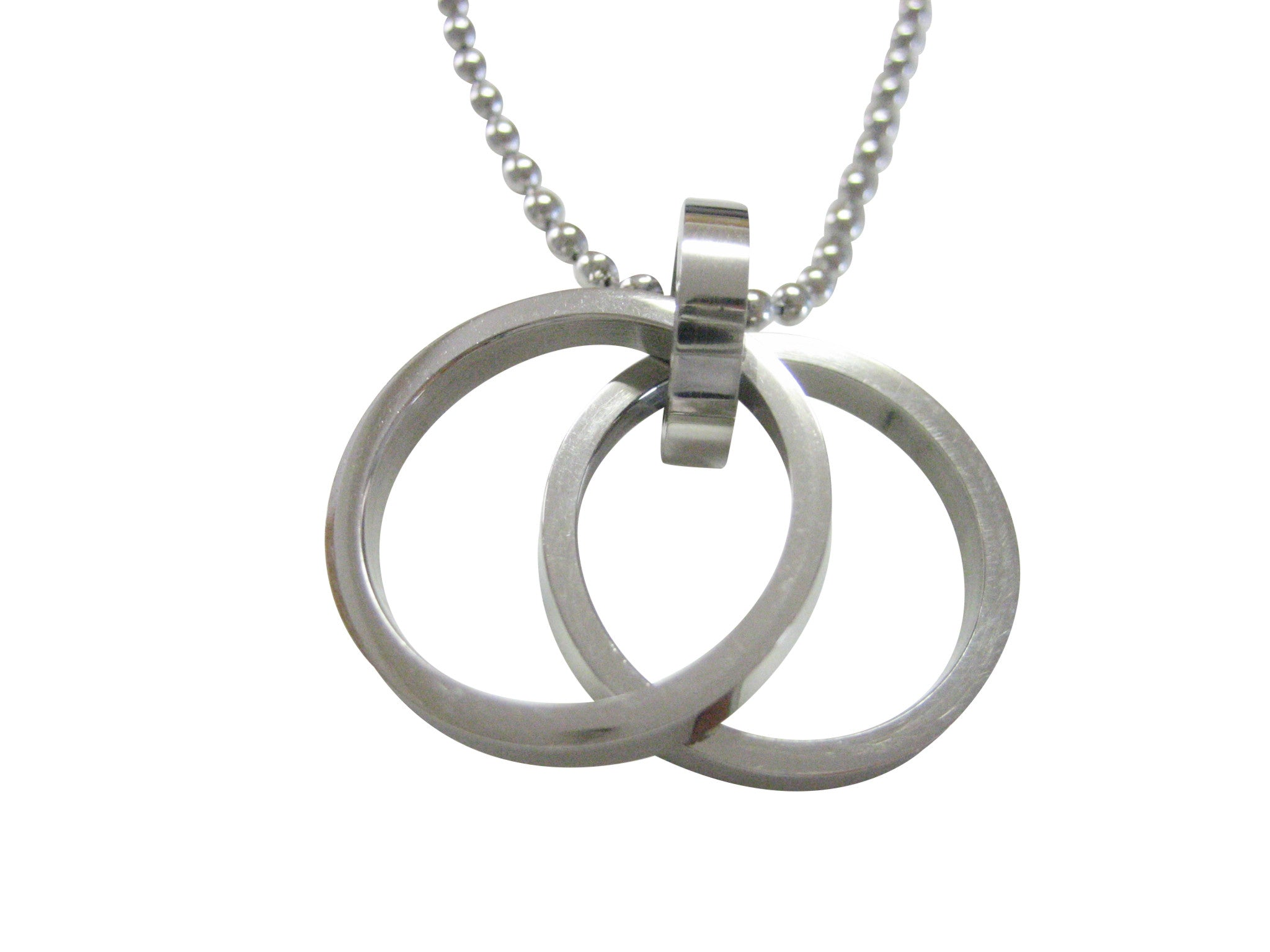 Double Ring Pendant Necklace