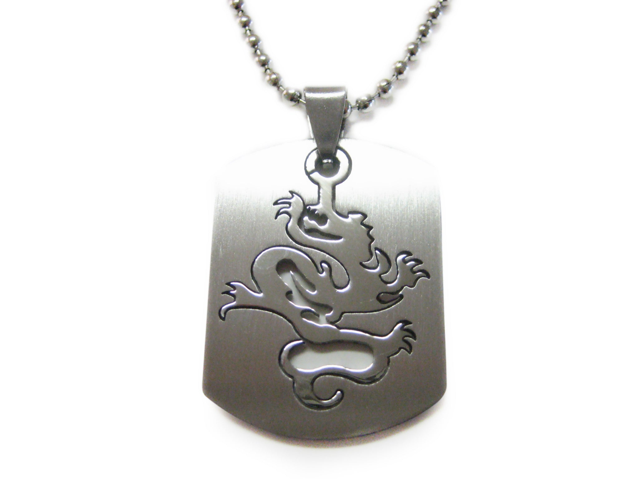 Dragon Metal Cut Out Necklace