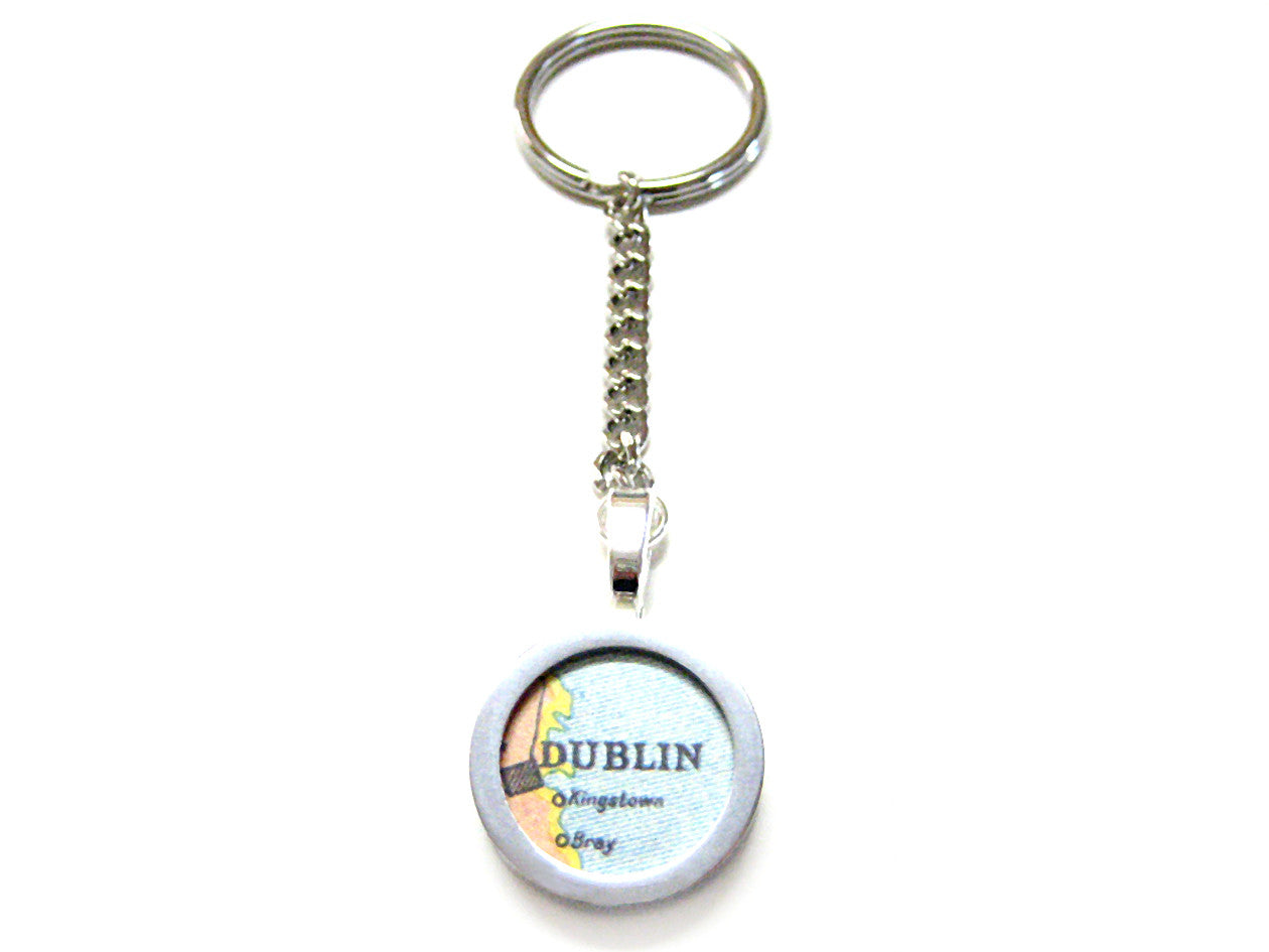 Dublin Map Key Chain