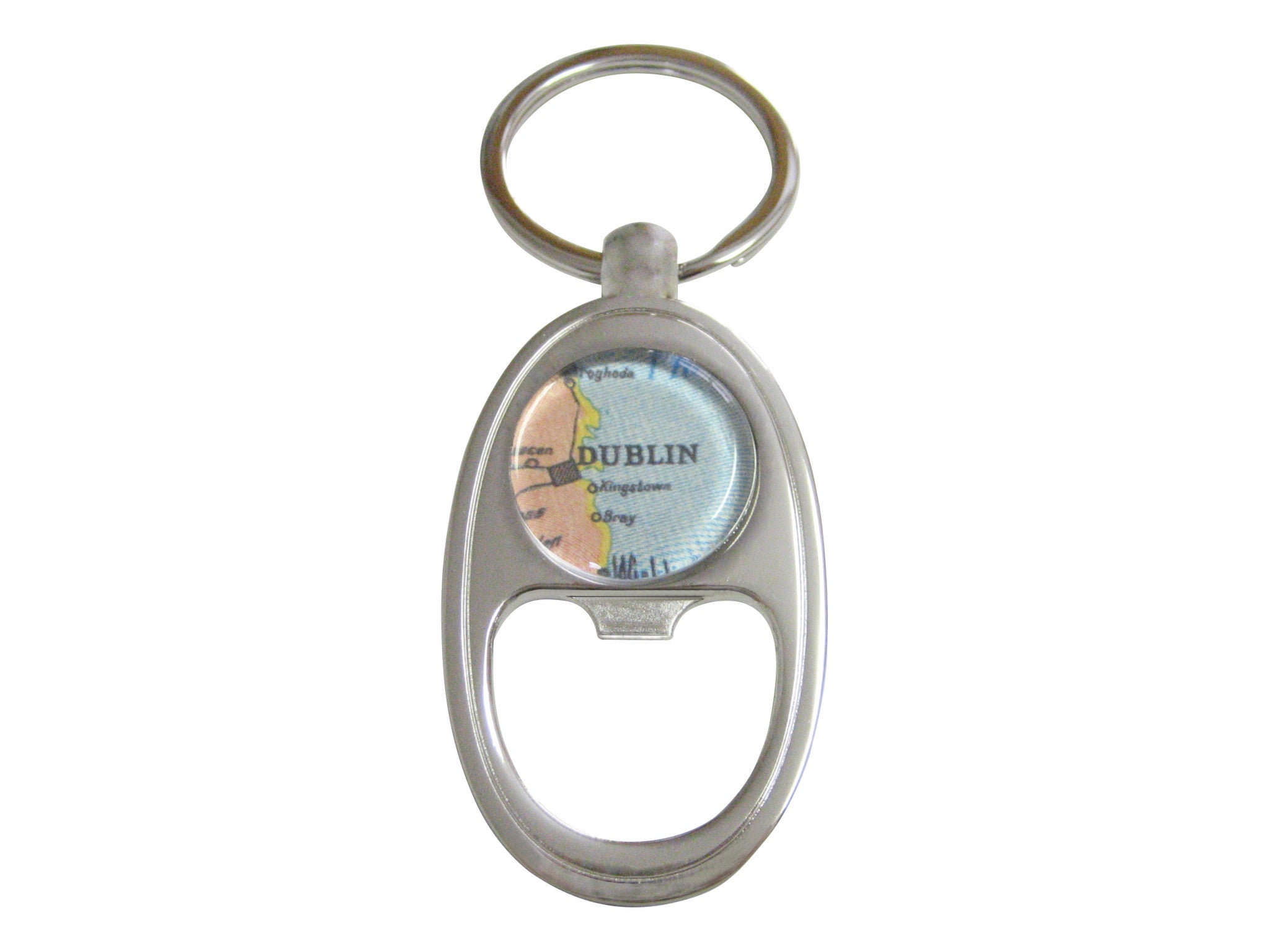 Dublin Map Key Chain Bottle Opener