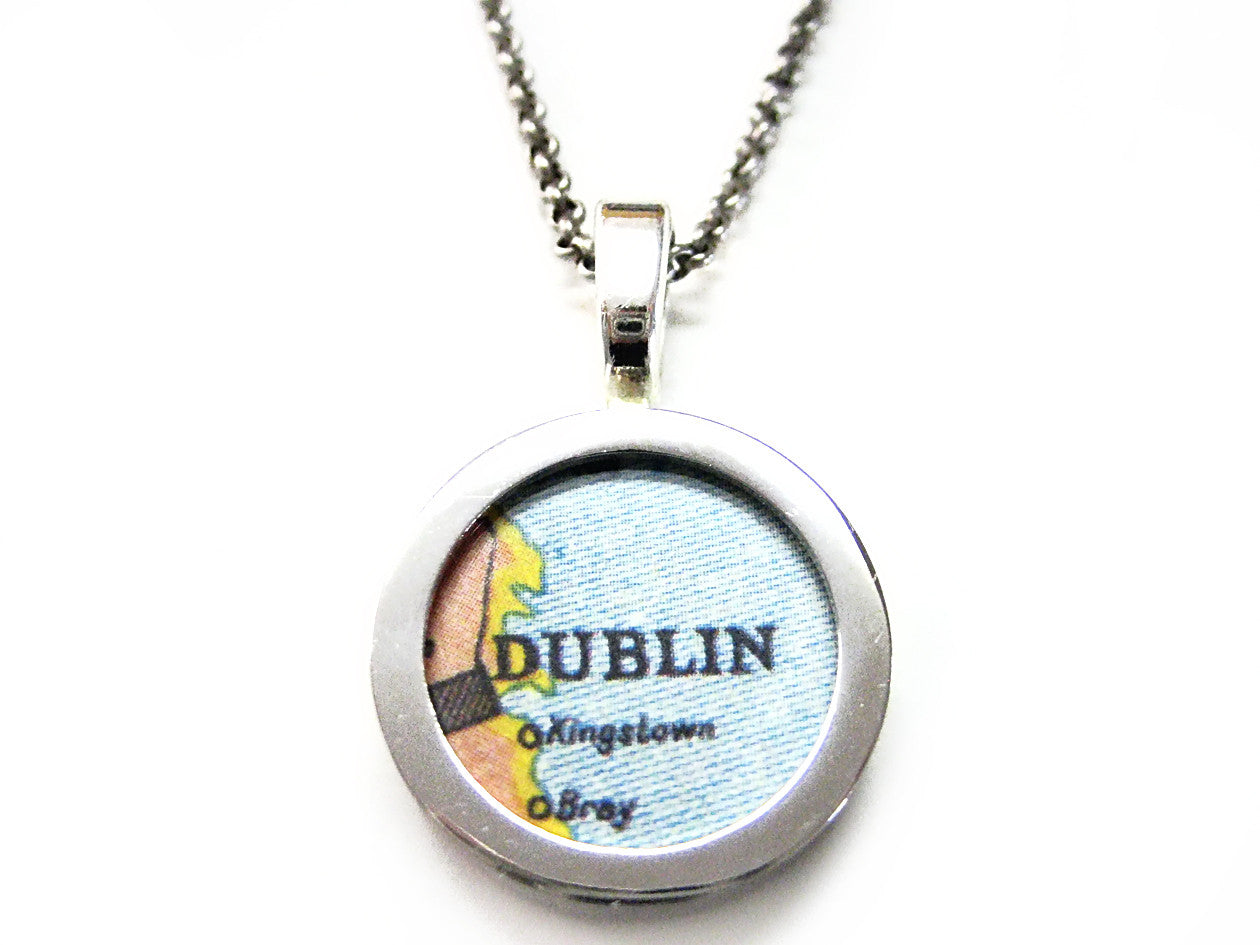 Dublin Map Pendant Necklace