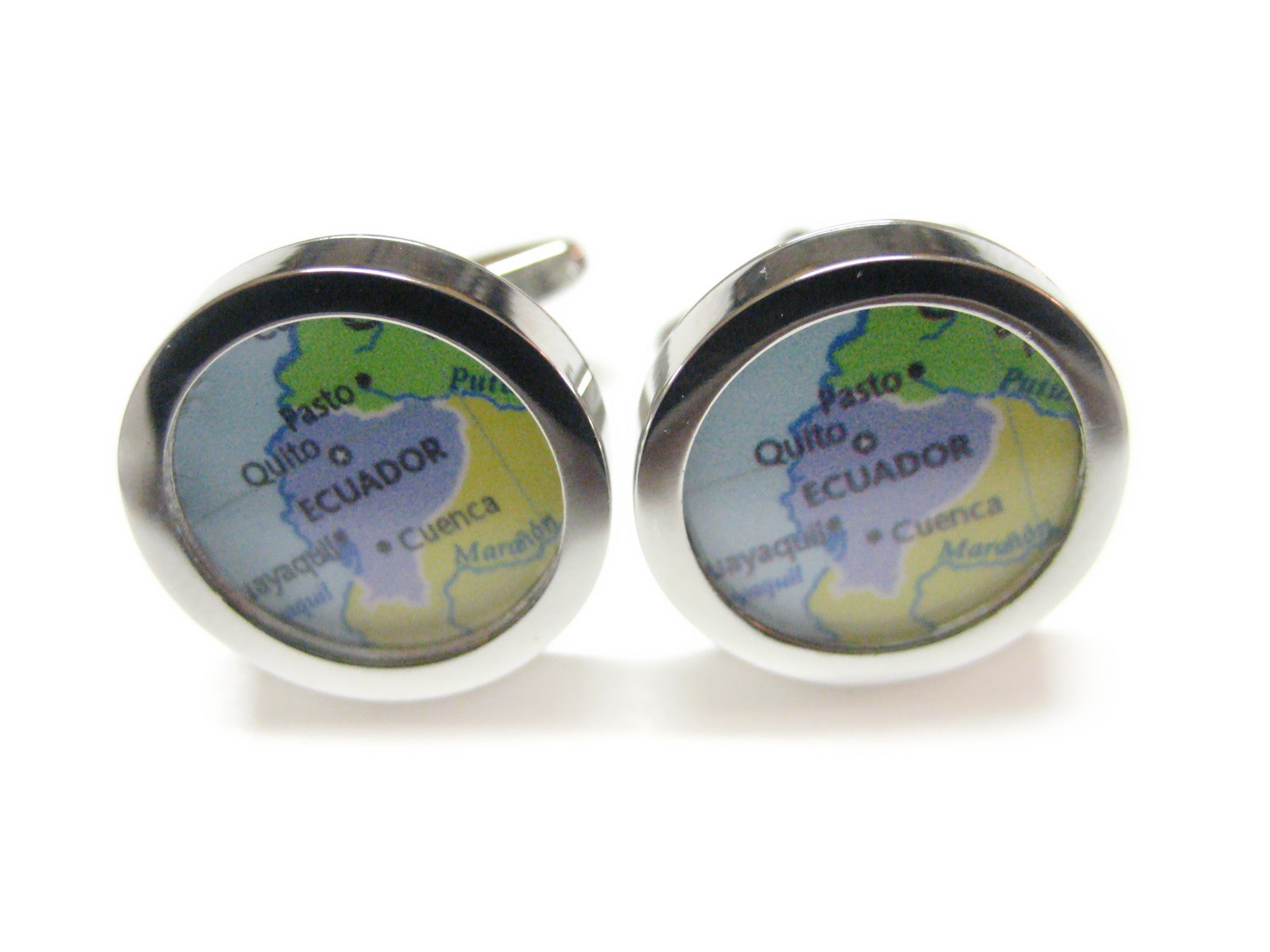 Ecuador Map Cufflinks