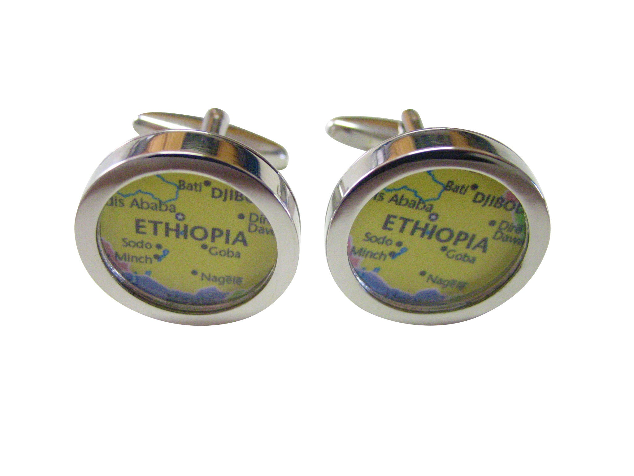 Ethiopia Map Cufflinks