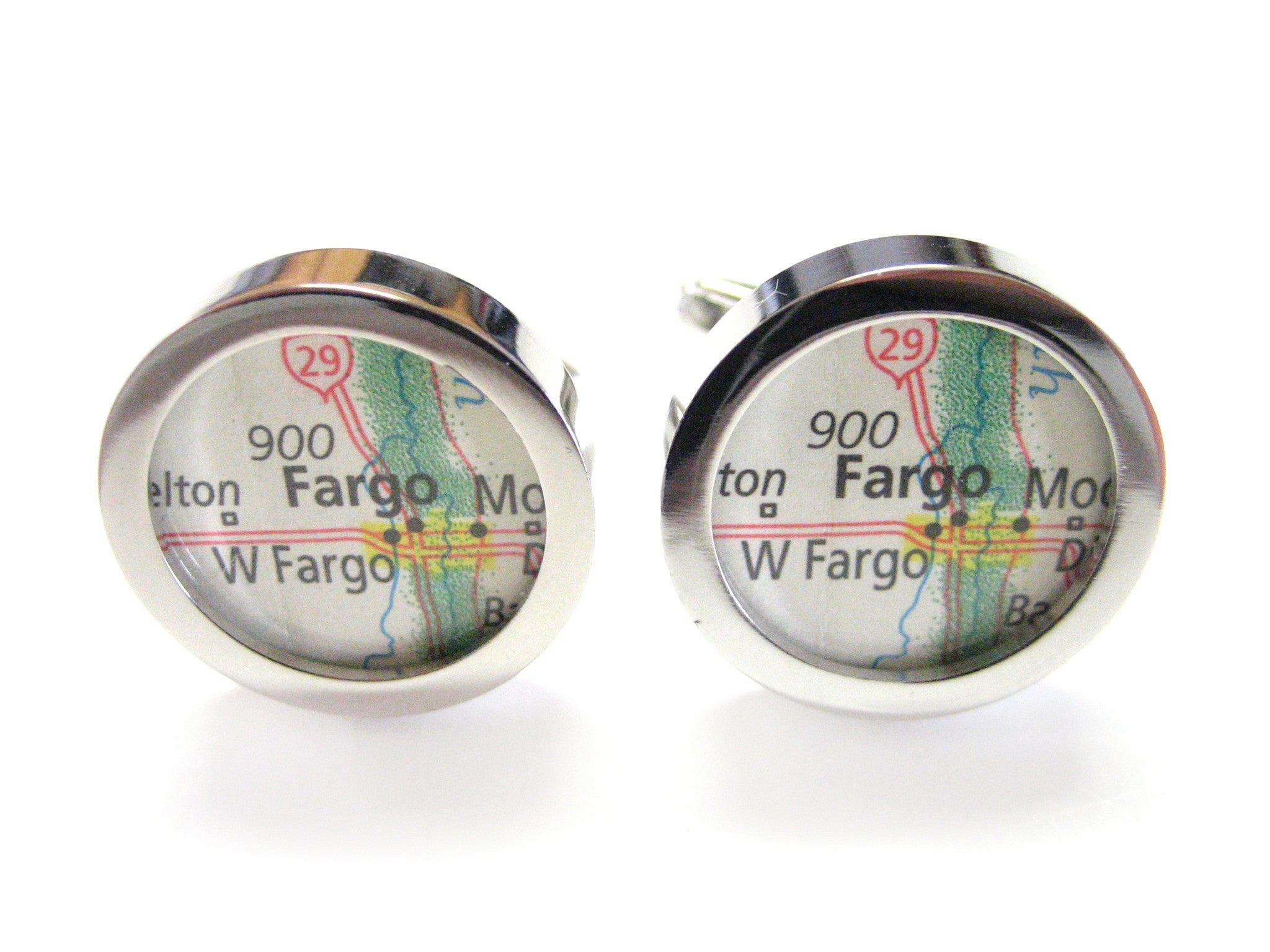 Fargo North Dakota Map Cufflinks