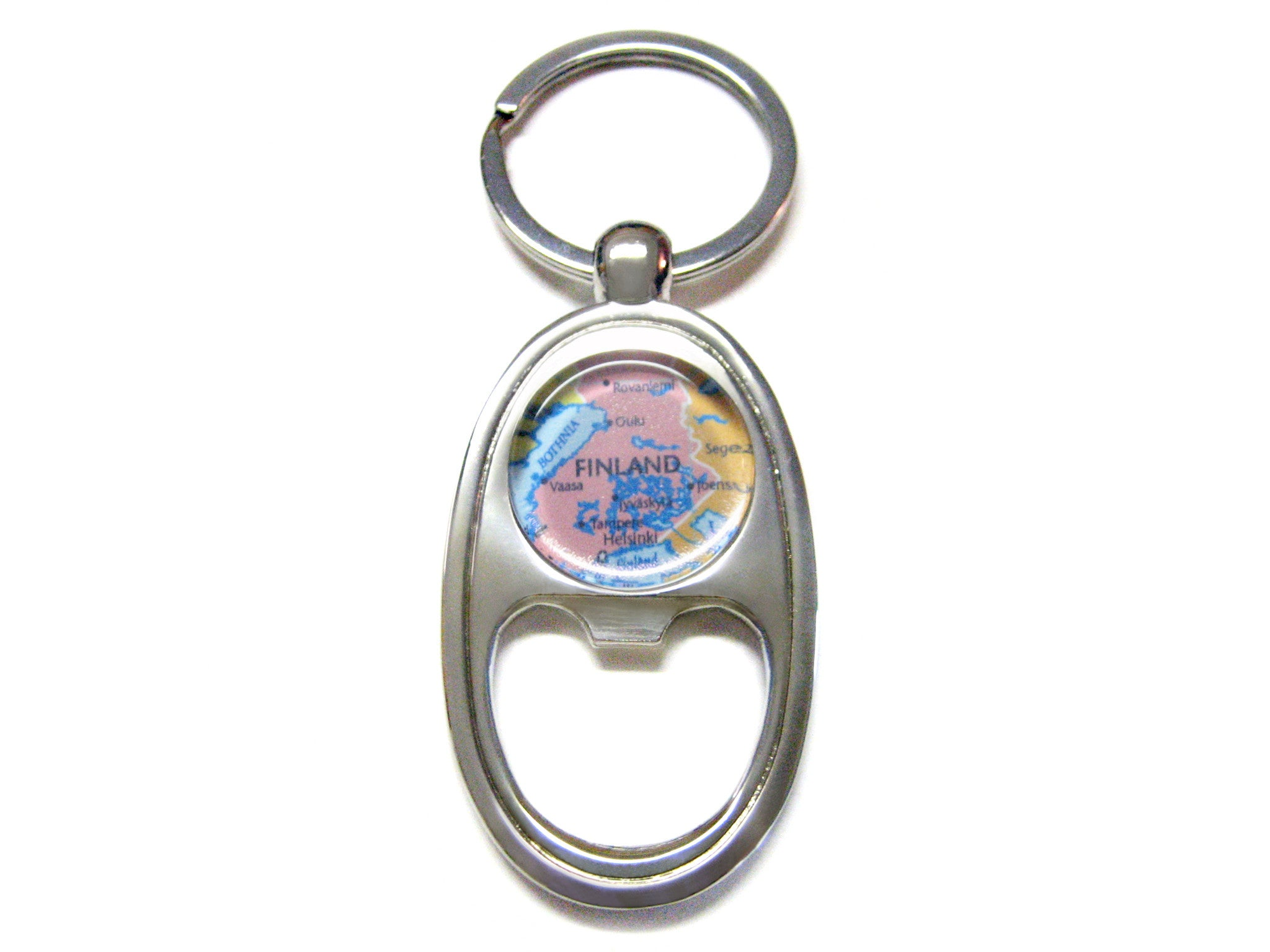 Finland Map Bottle Opener Key Chain