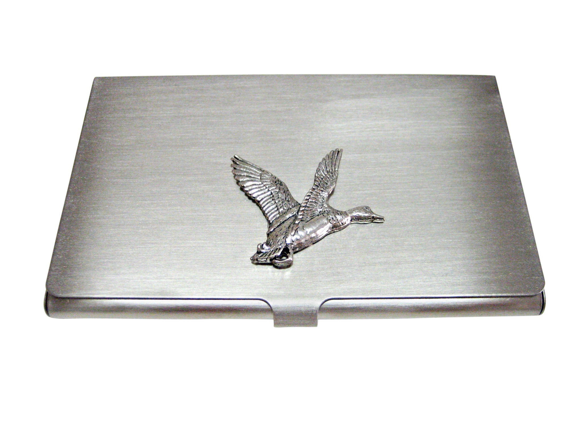 Flying Mallard Duck Business Card Holder