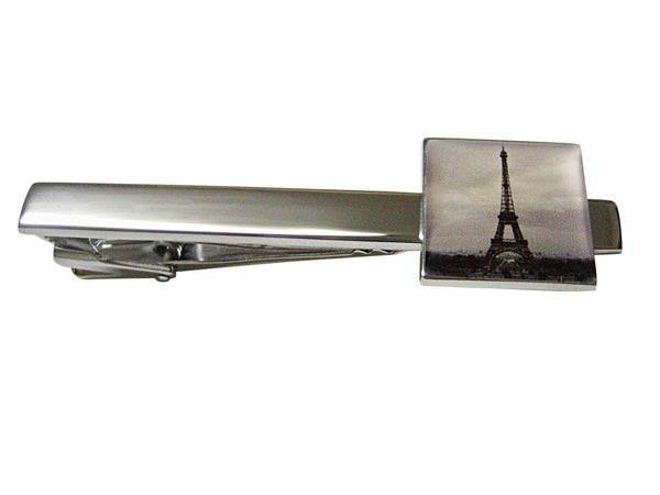 Iconic French Eiffel Tower Square Tie Clip