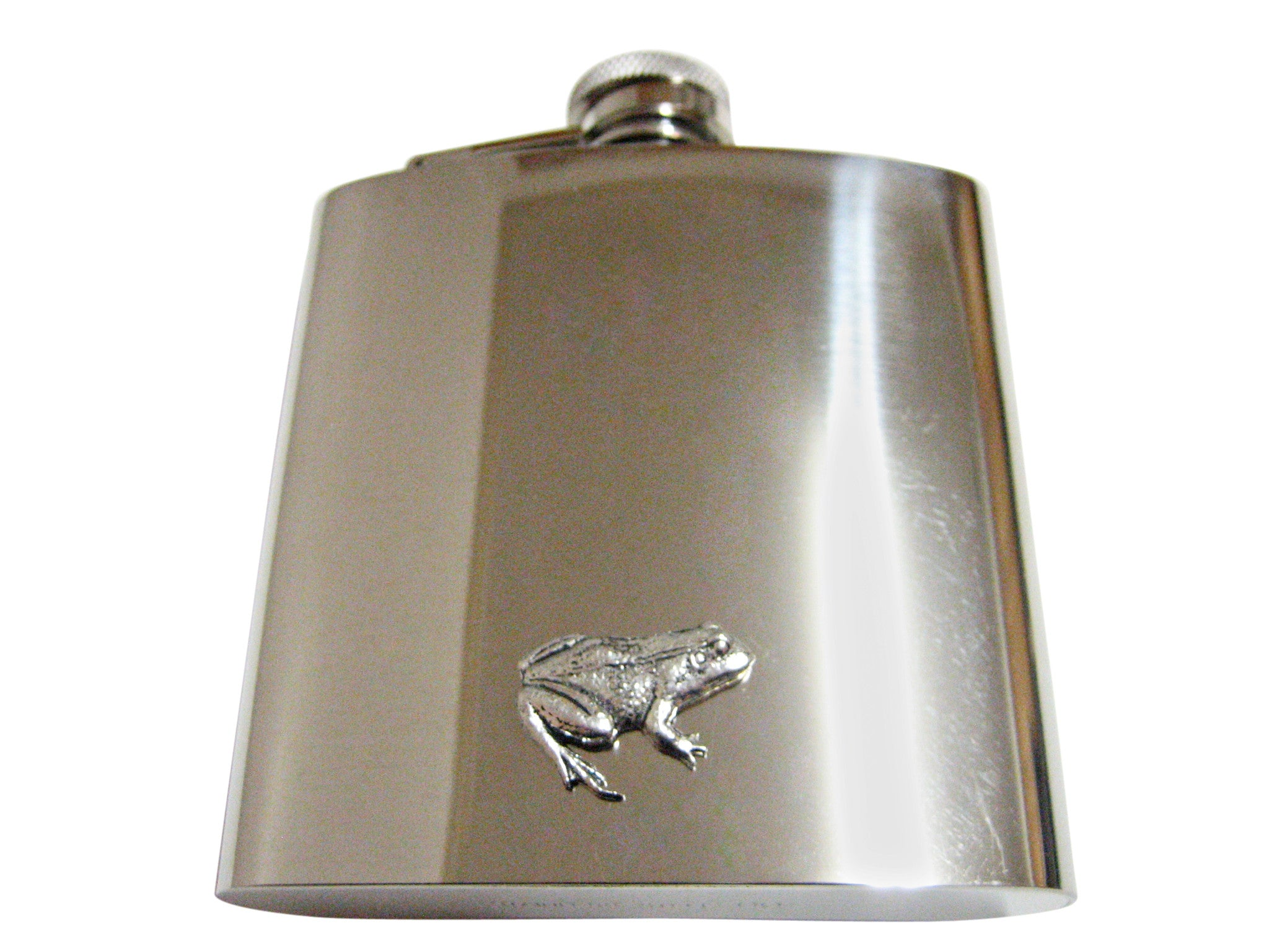 Frog 6 Oz. Stainless Steel Flask