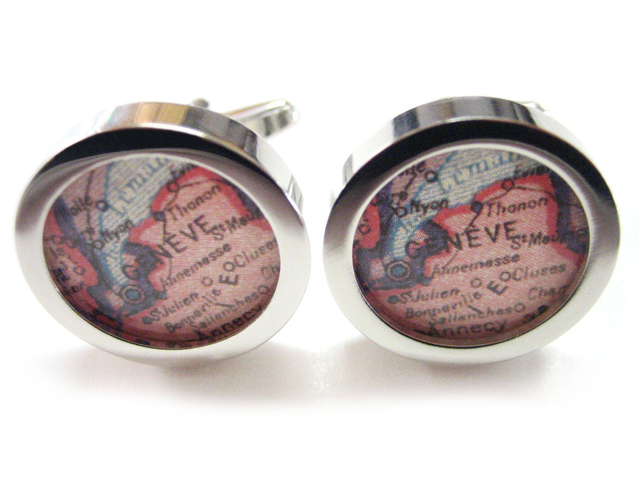 Geneva Map Cufflinks