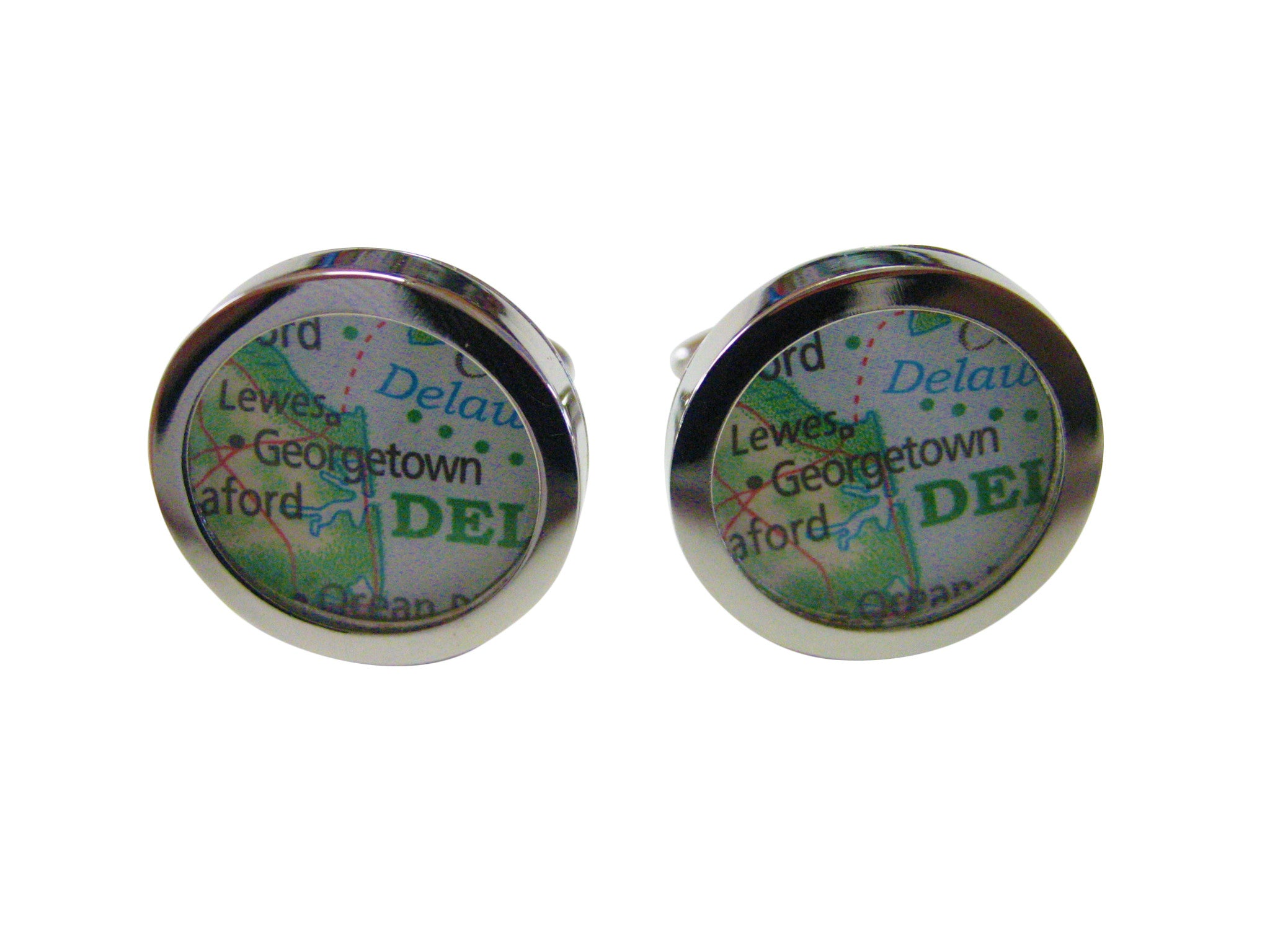 Georgetown Delaware Map Cufflinks