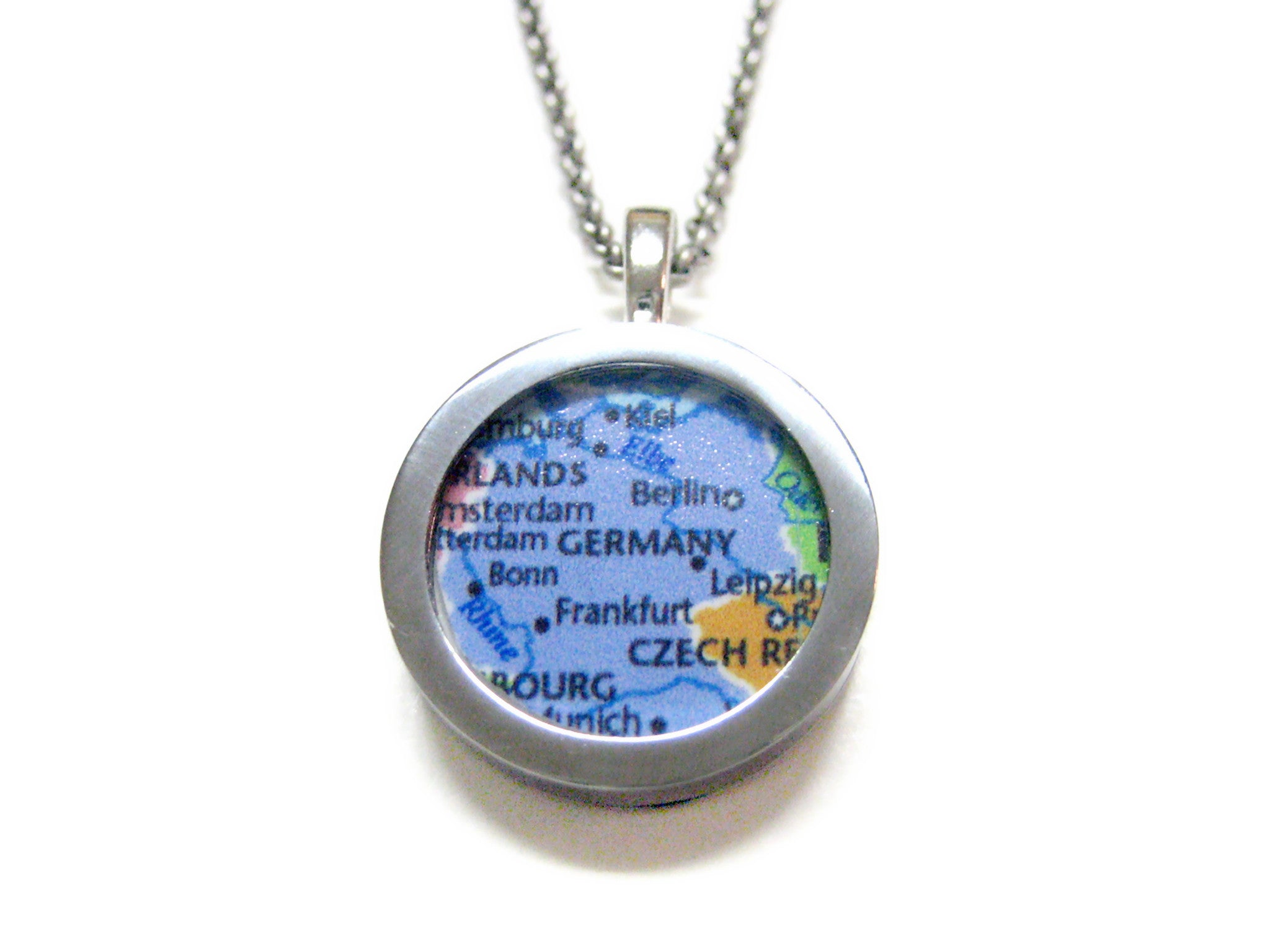Germany Map Pendant Necklace
