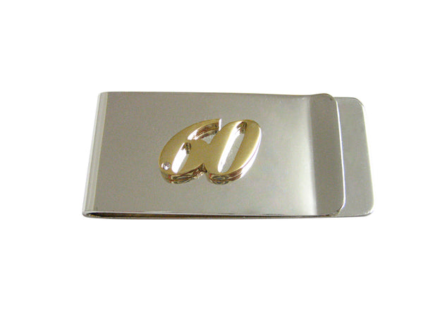 Gold Toned 60 Years Money Clip