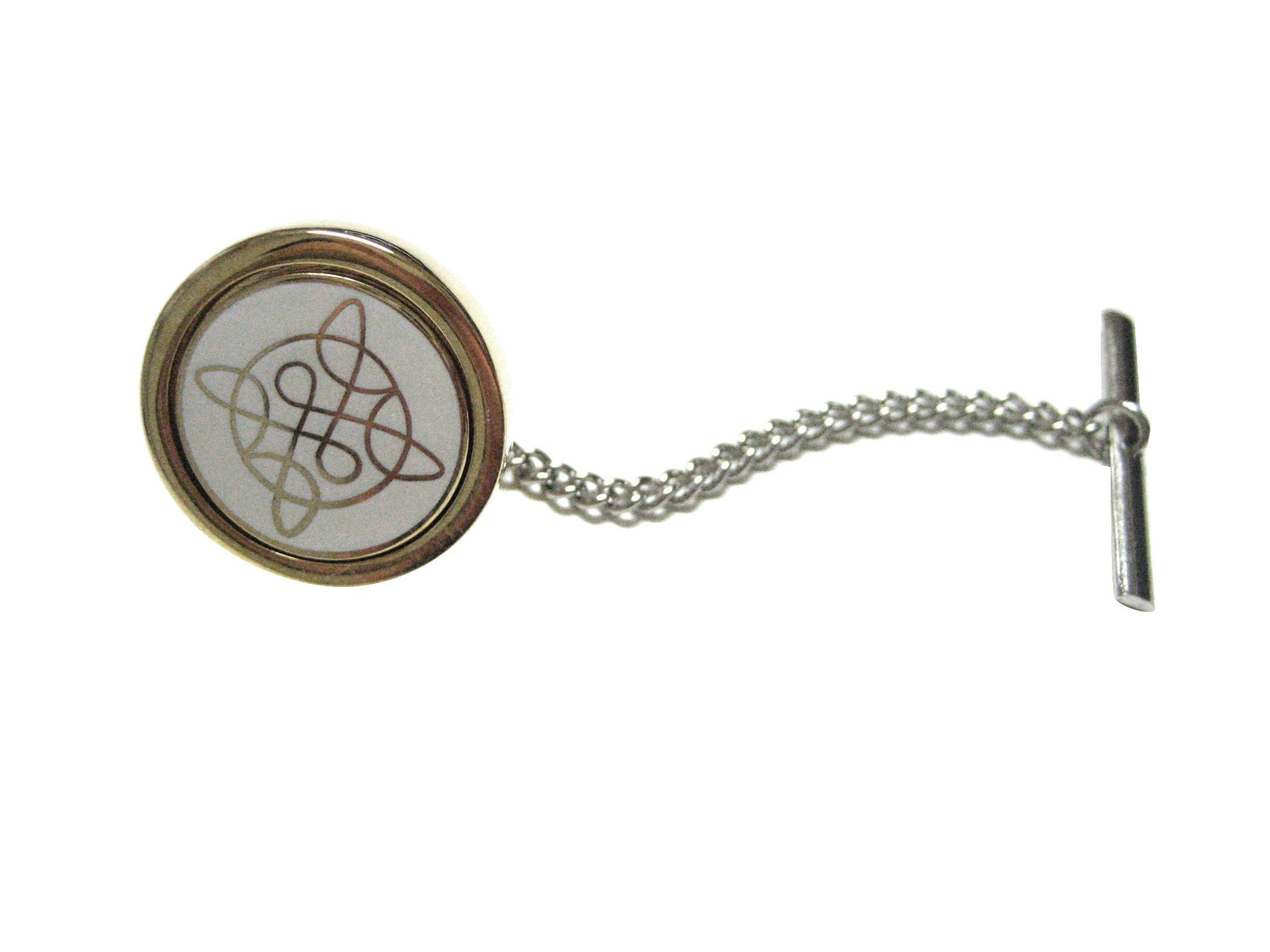 Gold Toned Celtic Design Tie Tack