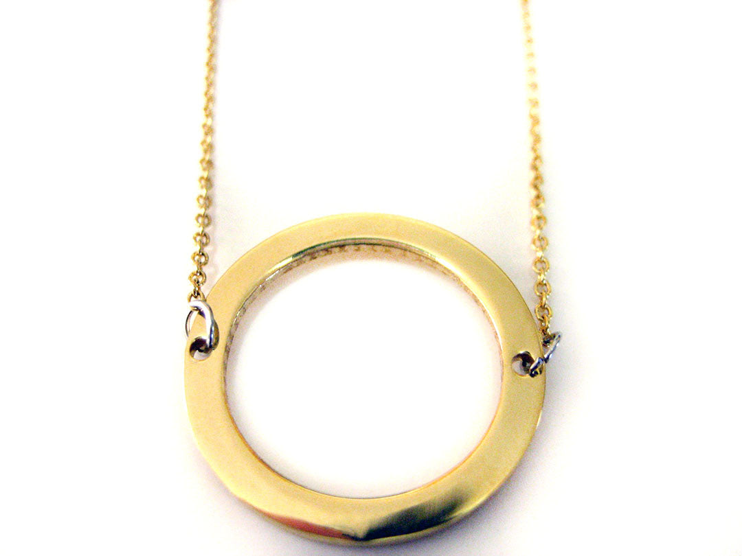 Gold Toned Circle Necklace