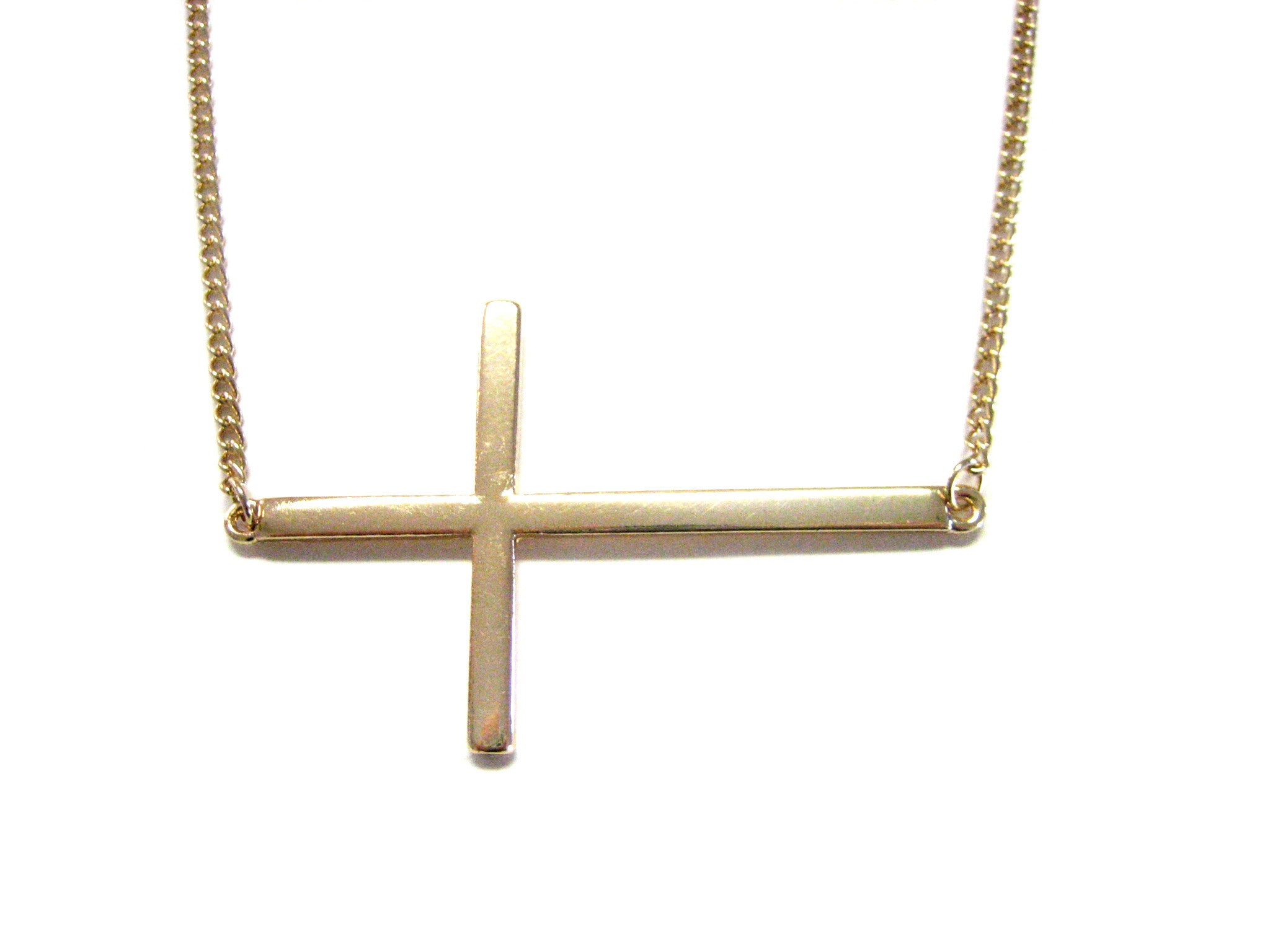 Gold Toned Cross Necklace