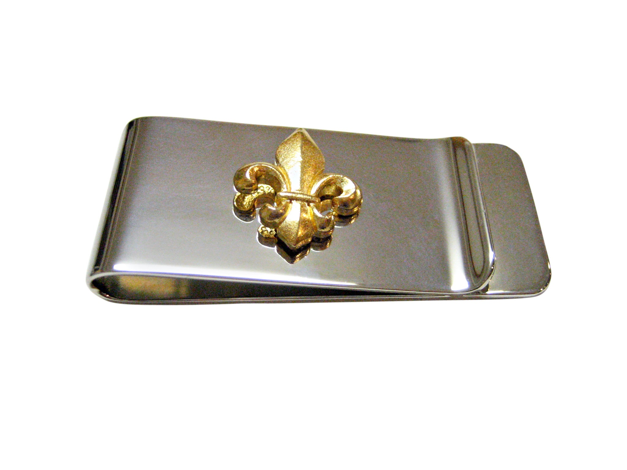 Gold Toned Fleur de Lys Money Clip