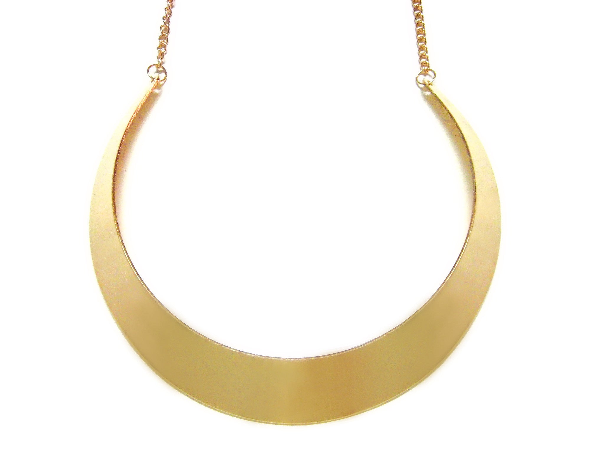 Gold Toned Full Collar Necklace