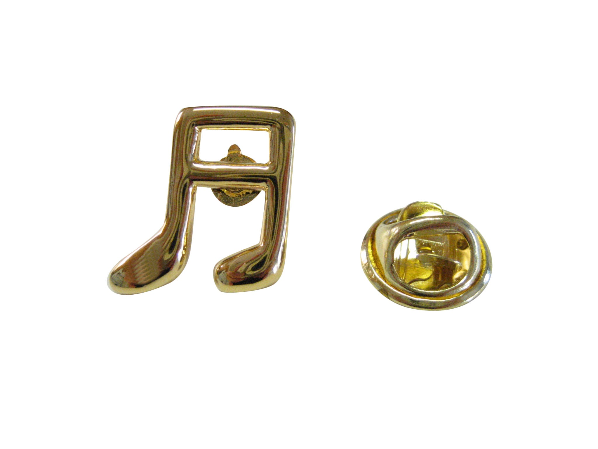 Gold Toned Musical Note Lapel Pin