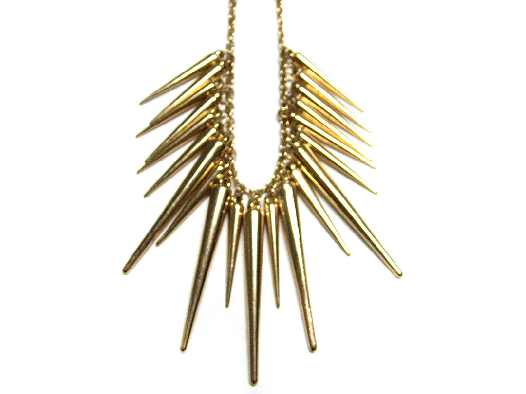 Golden Spike Necklace