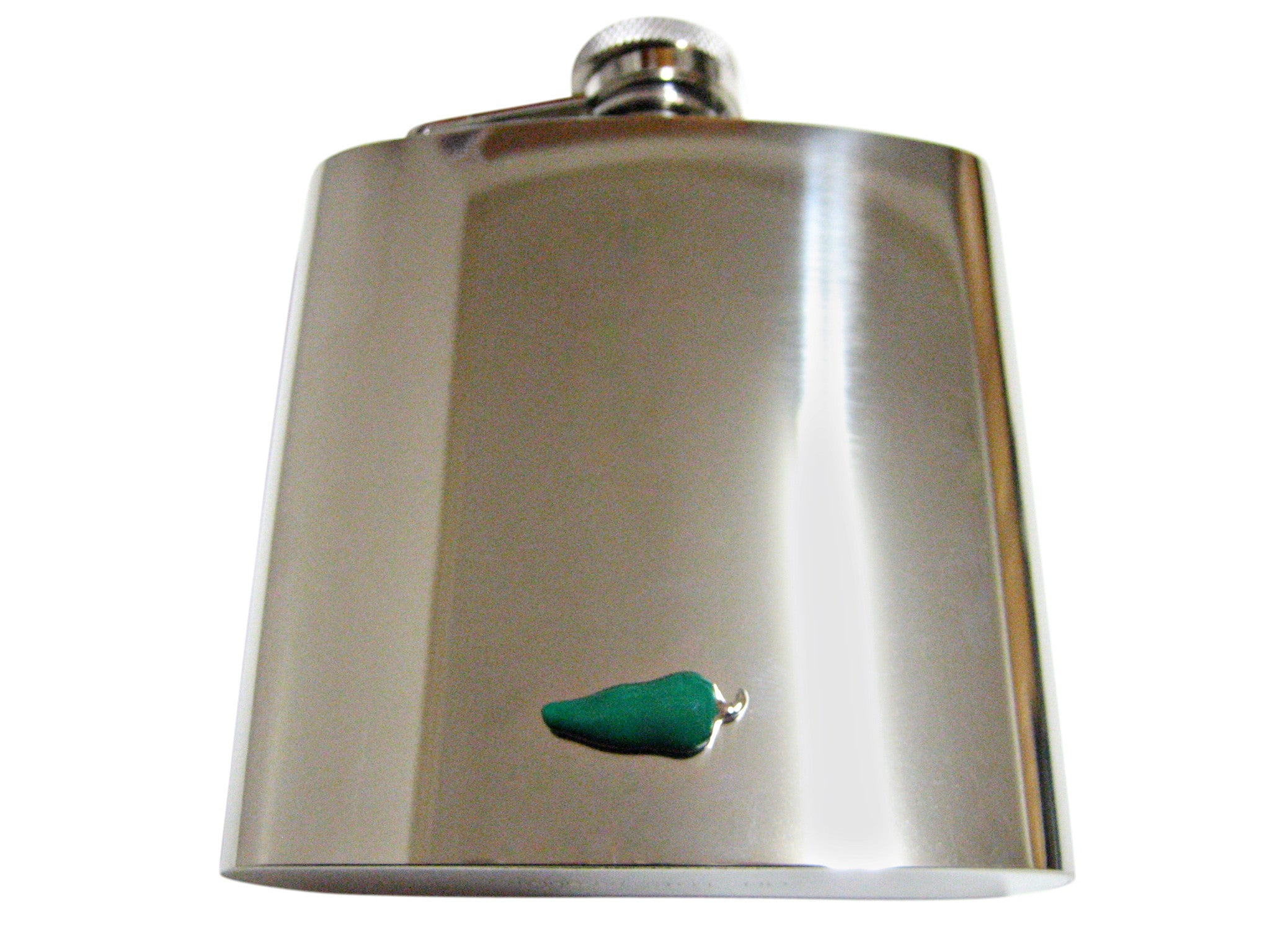 Green Chili Pepper 6 Oz. Stainless Steel Flask