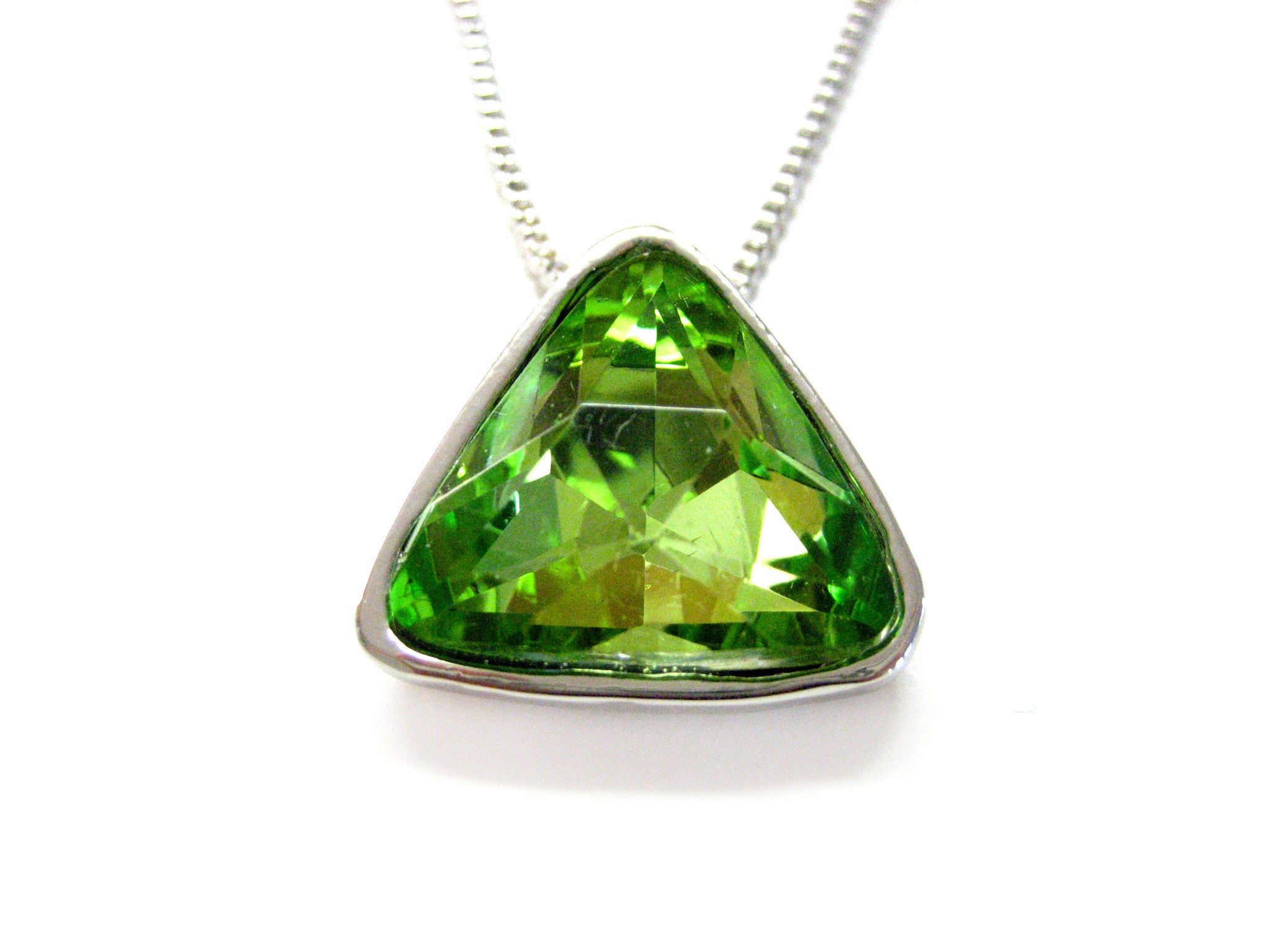 Green Crystal Pendant Necklace