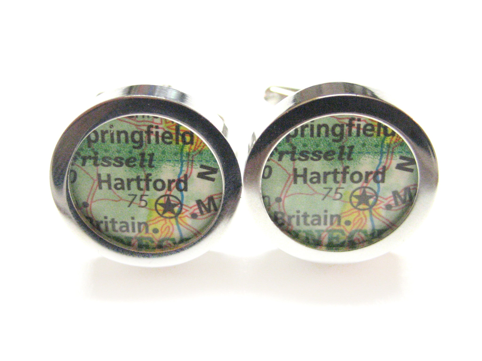 Hartford Connecticut Map Cufflinks