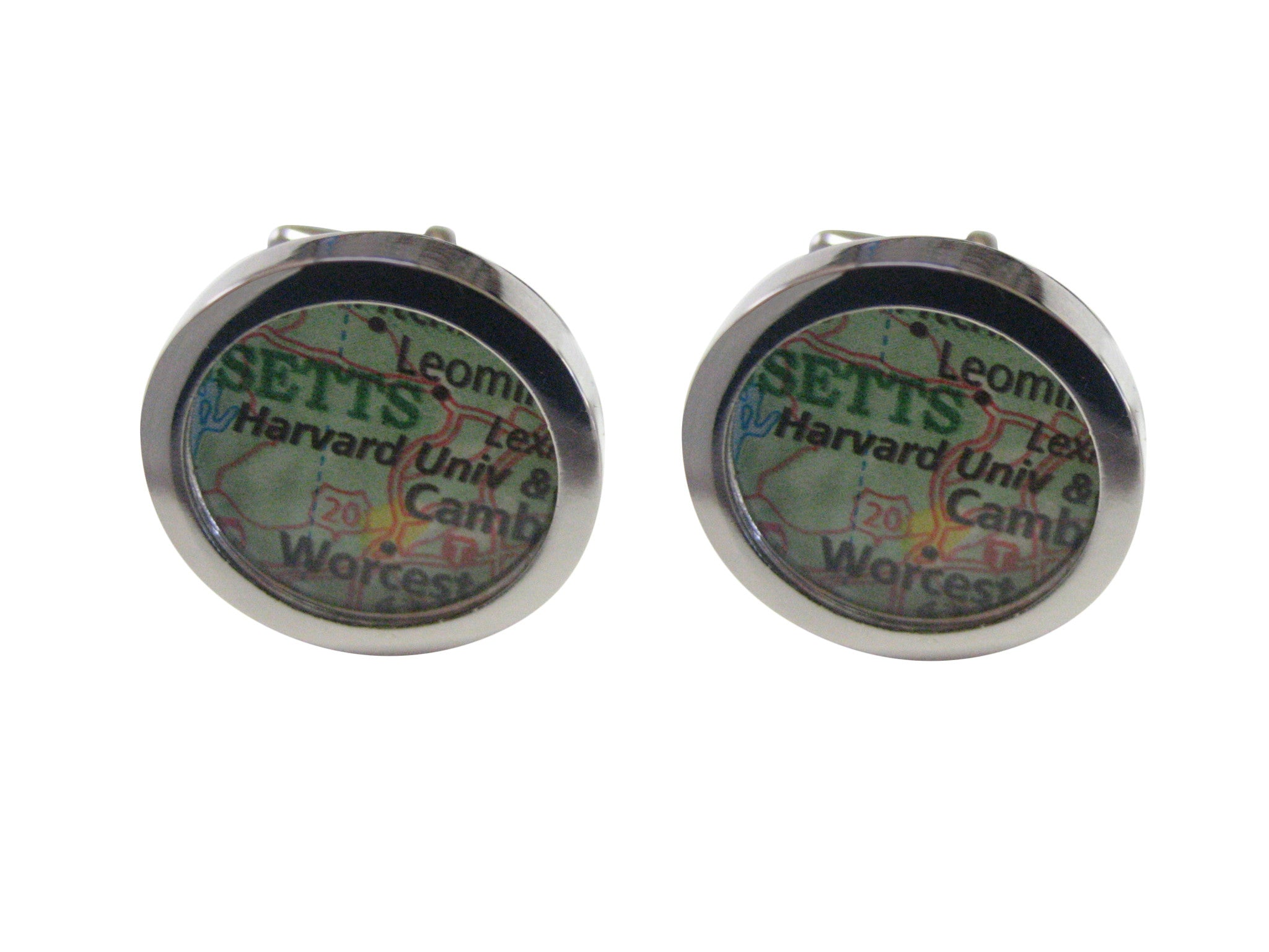 Harvard University Map Cufflinks