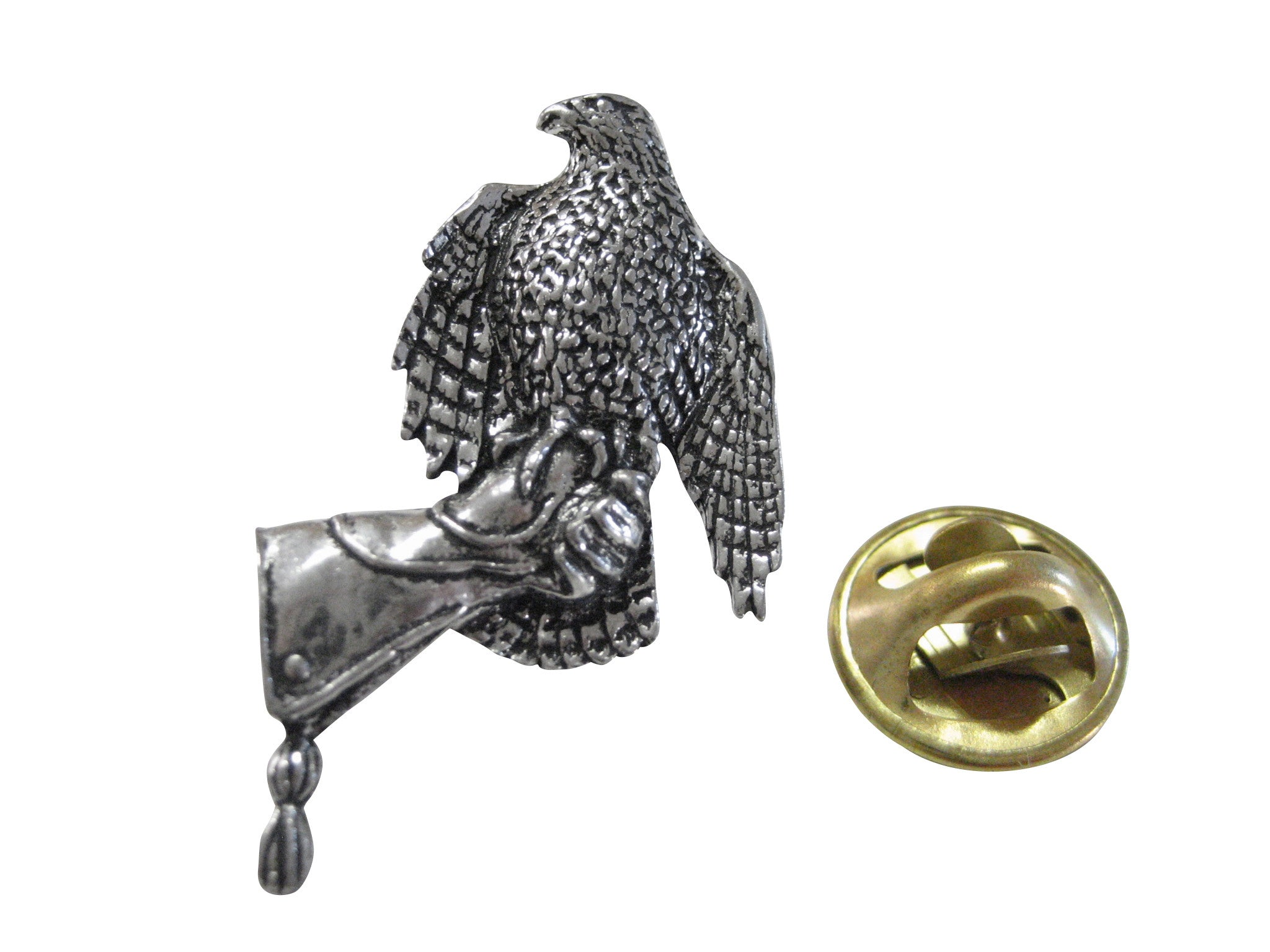 Hawk Bird On Glove Lapel Pin