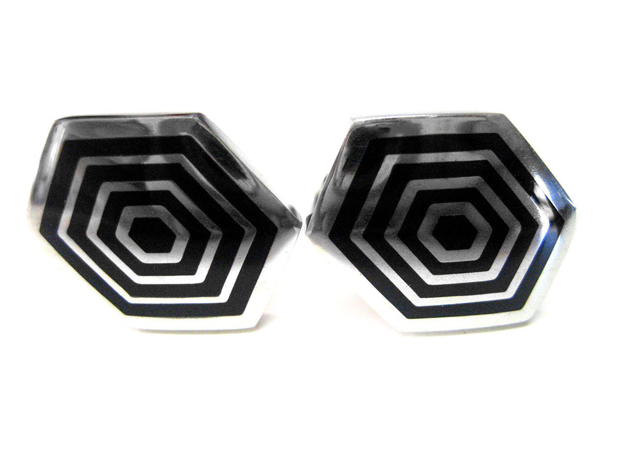 Hexagon Design Cufflinks