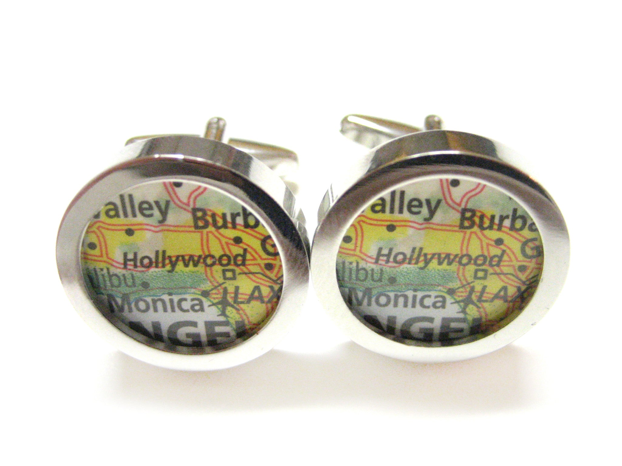 Hollywood California Map Cufflinks