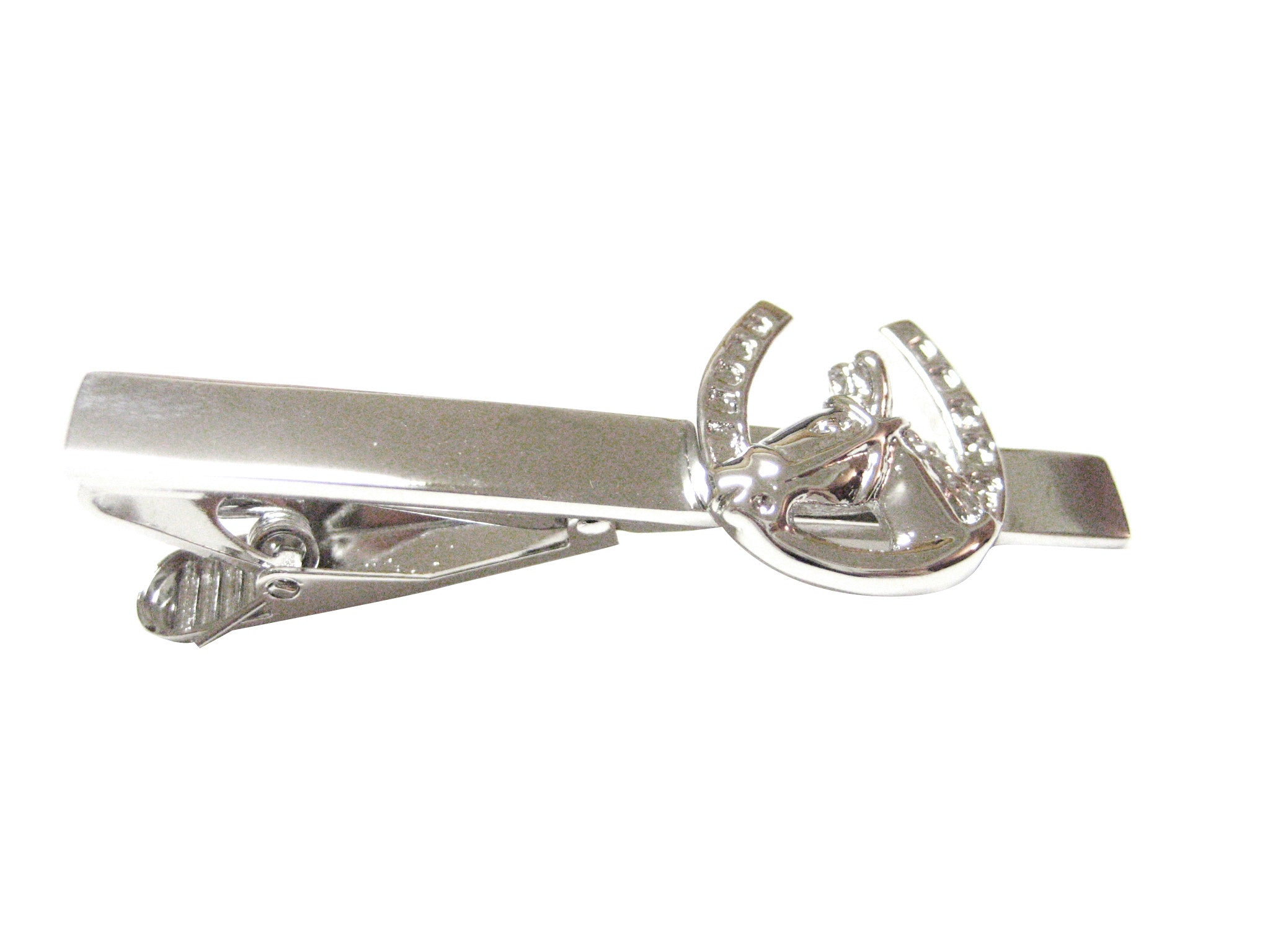 Horse and Horse Shoe Tie Clip