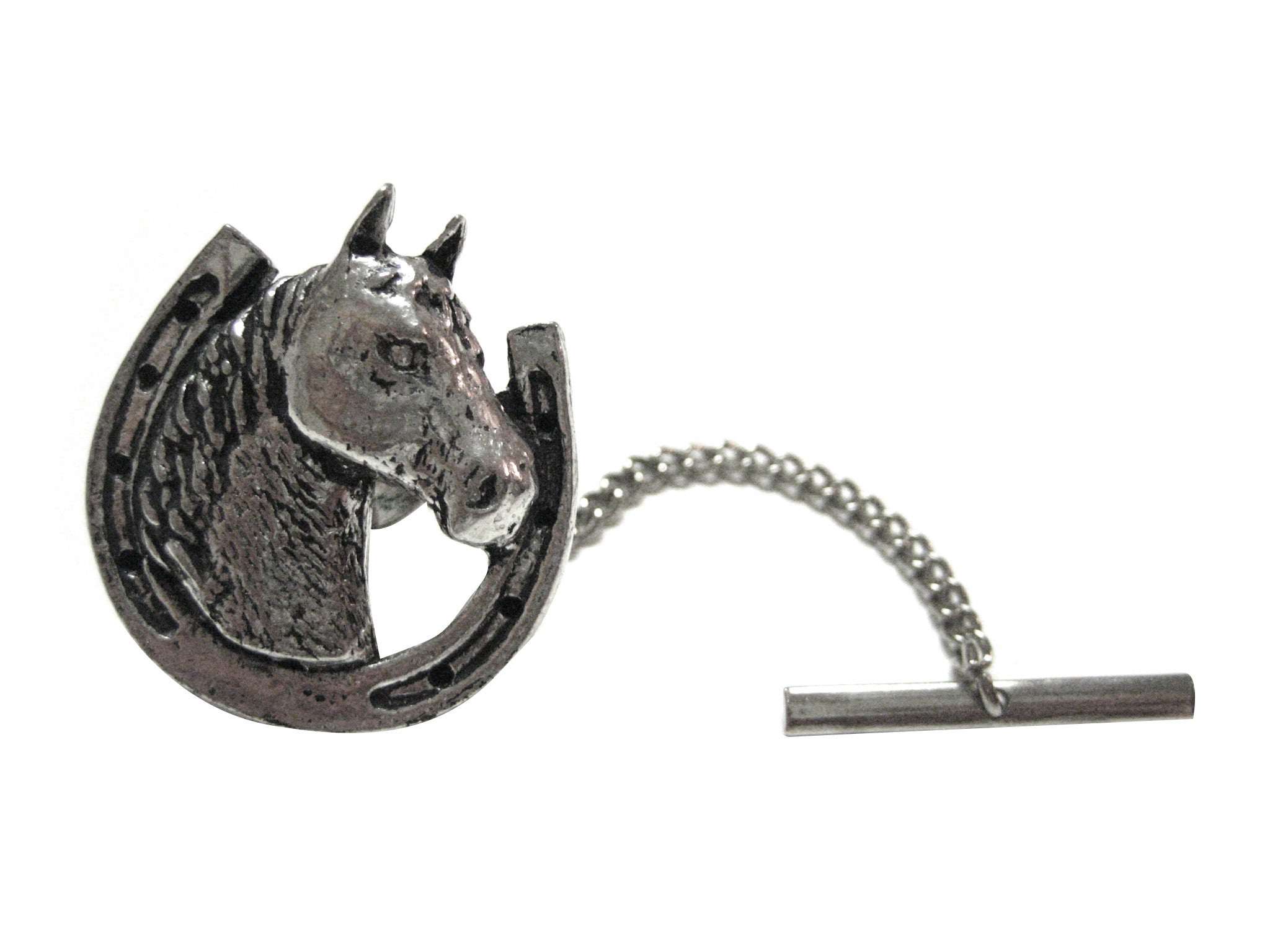 Horse and Horse Shoe Tie Tack