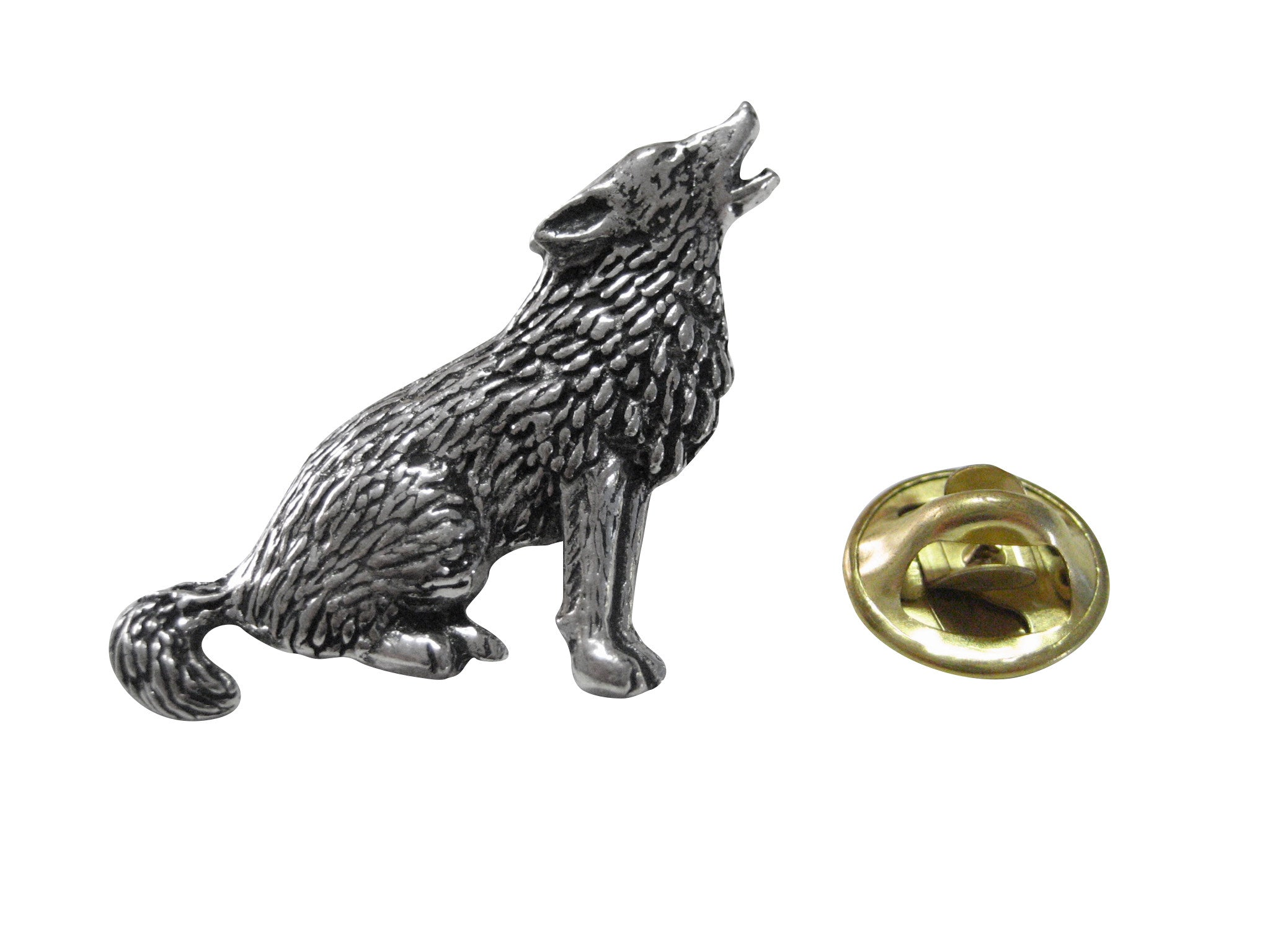 Howling Wolf Lapel Pin