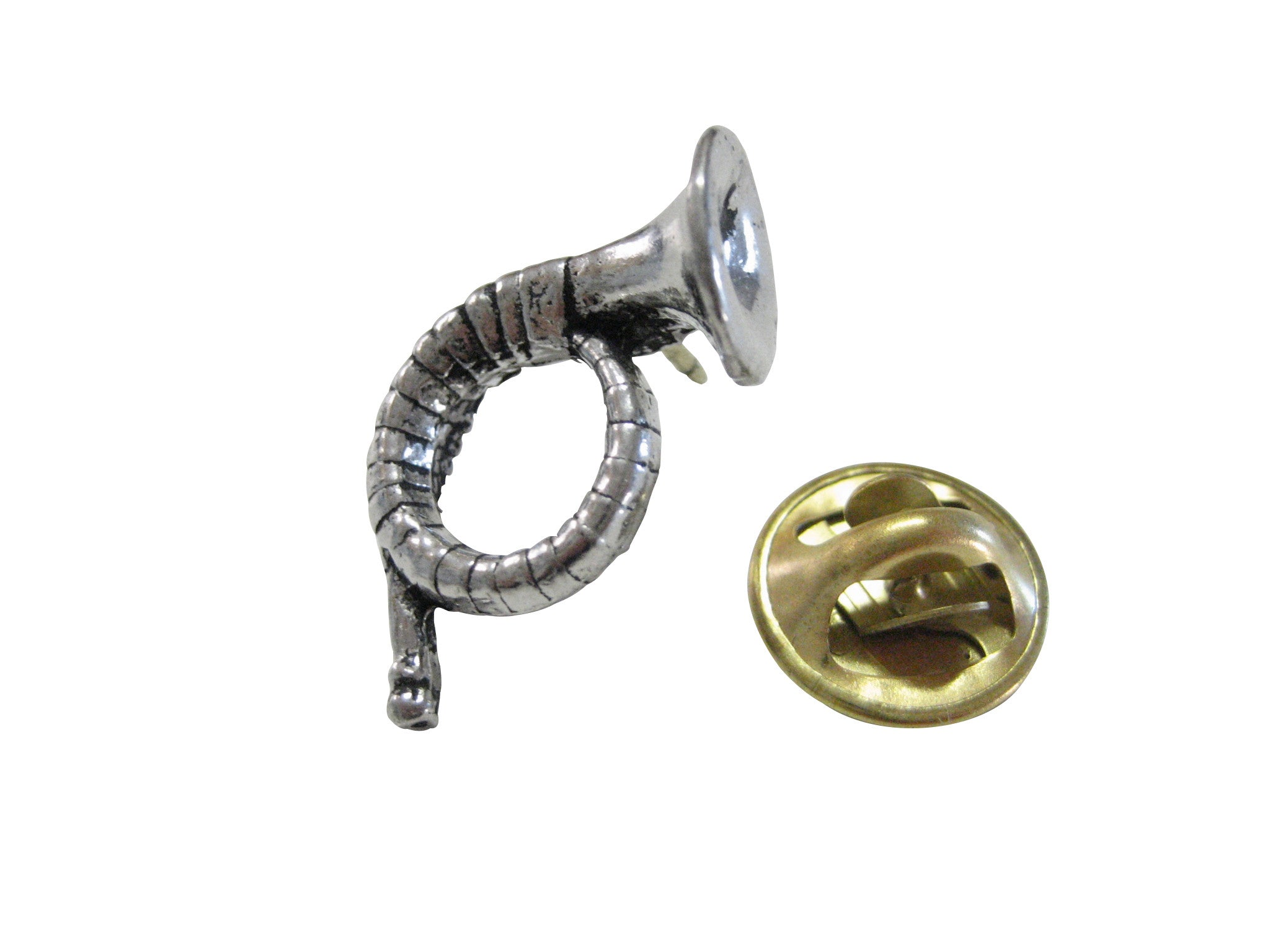 Hunting Horn Pendant Lapel Pin