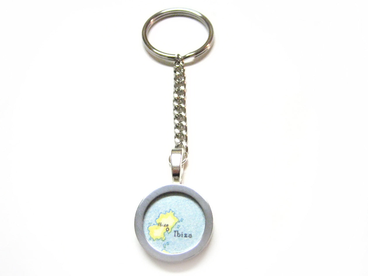 Ibiza Map Key Chain