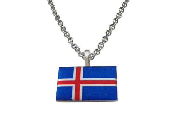 Iceland Flag Pendant Necklace