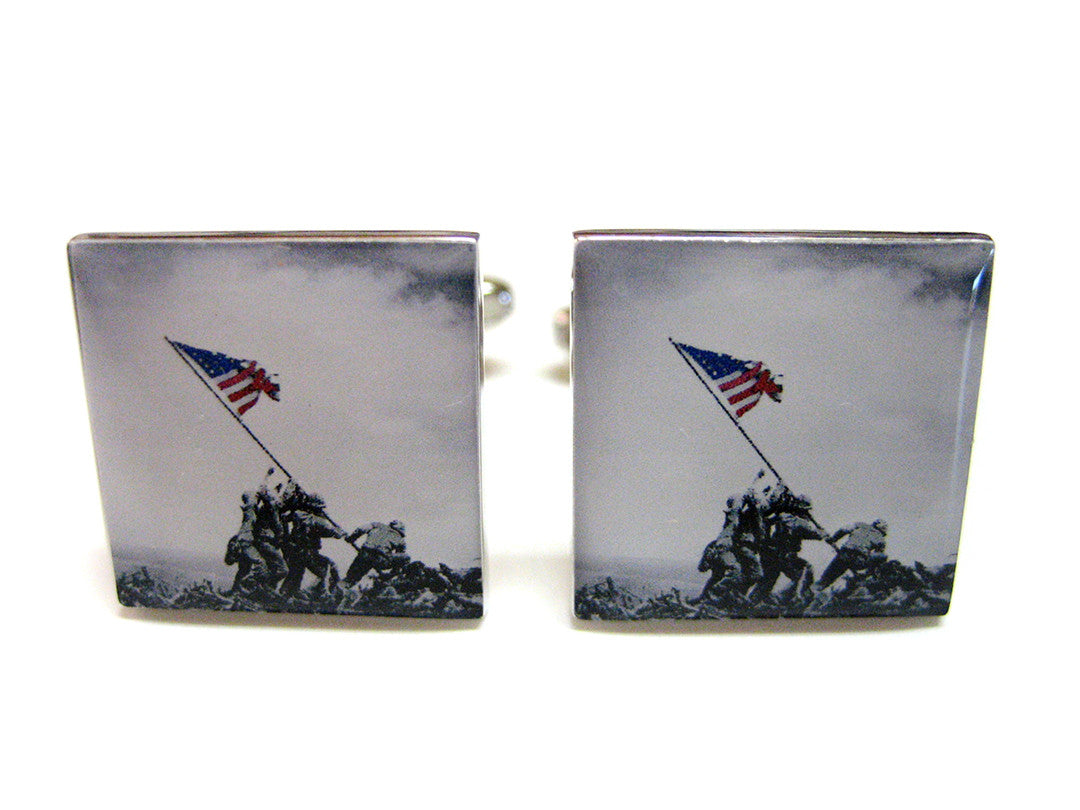 Iconic Flag Raising Cufflinks