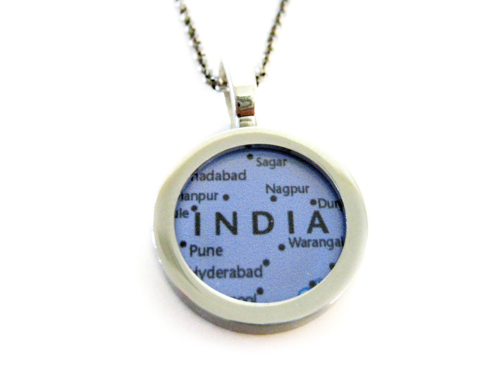 India Map Pendant Necklace