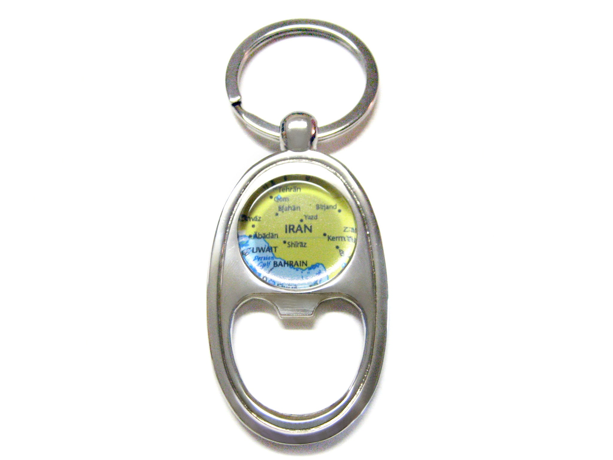 Iran Map Bottle Opener Key Chain