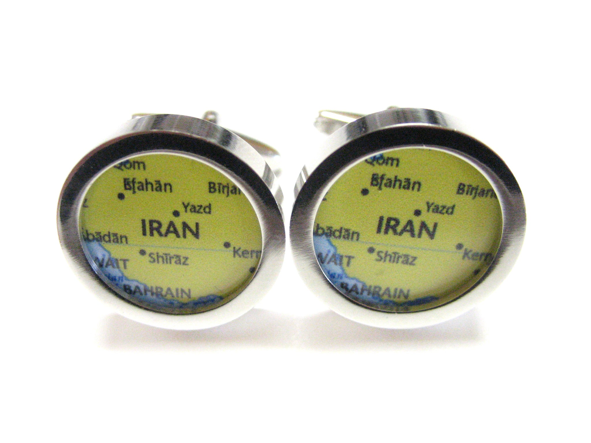 Iran Map Cufflinks