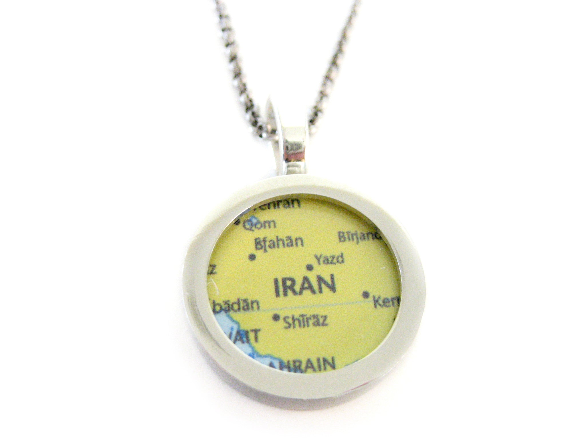 Iran Map Pendant Necklace