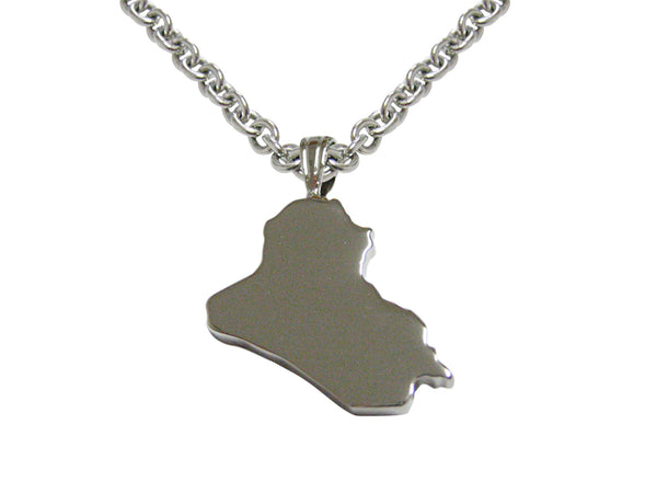 Iraq Map Shape Pendant Necklace