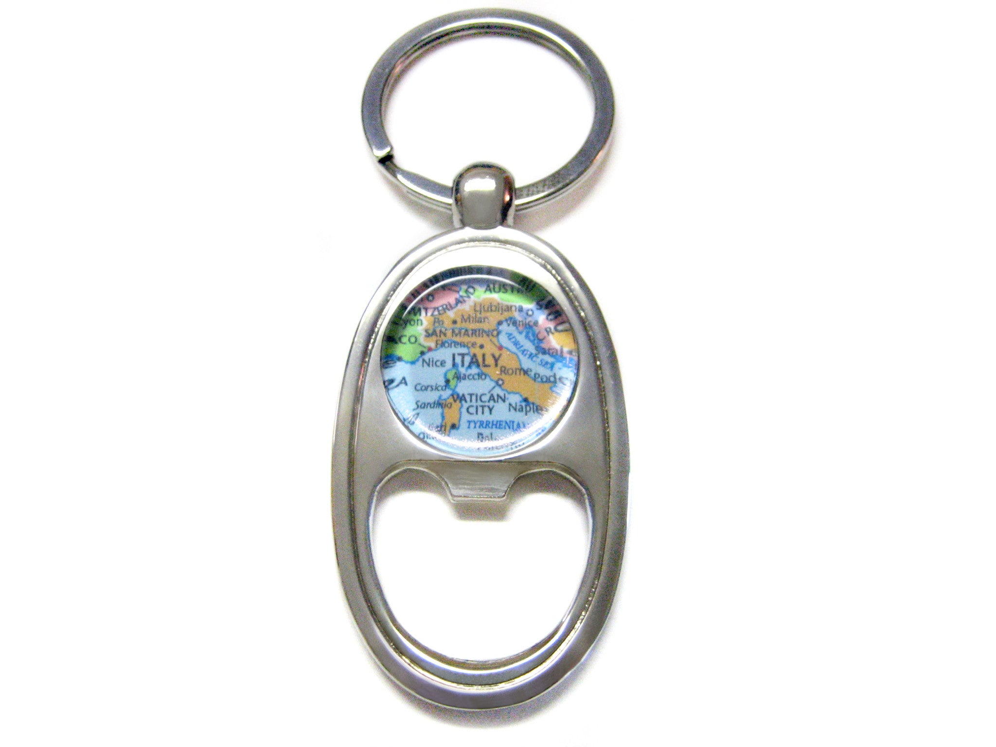 Italy Map Bottle Opener Key Chain