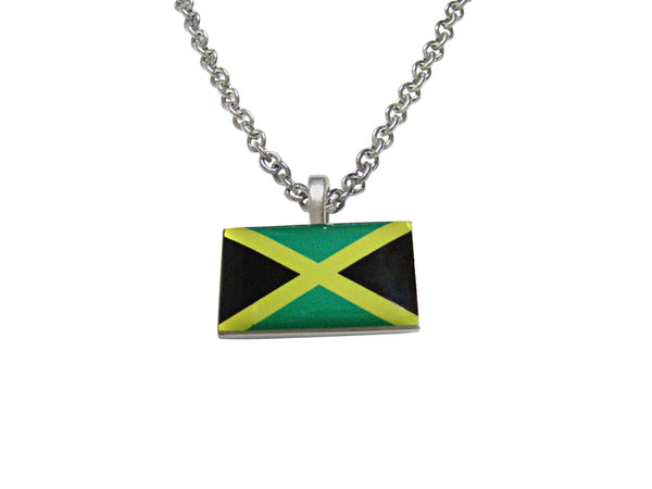 Jamaica Flag Pendant Necklace