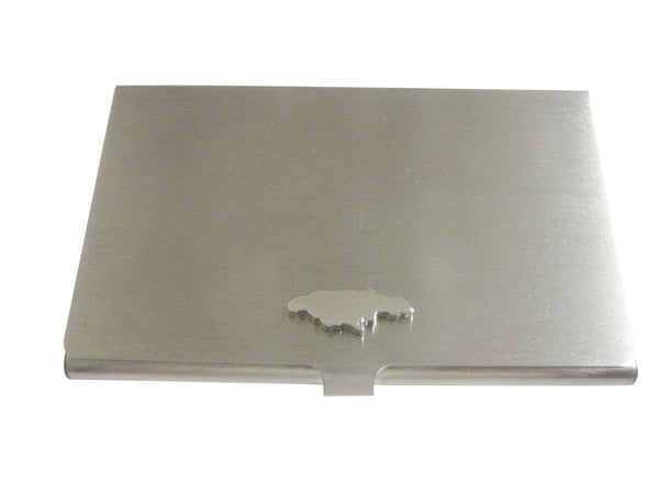 Jamaica Map Shape Business Card Holder