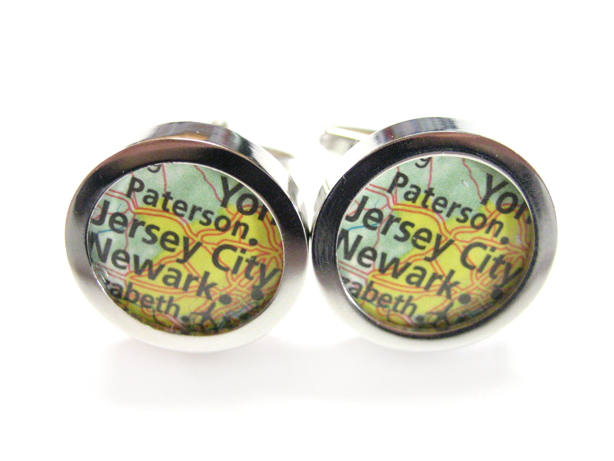 Jersey City New Jersey Map Cufflinks