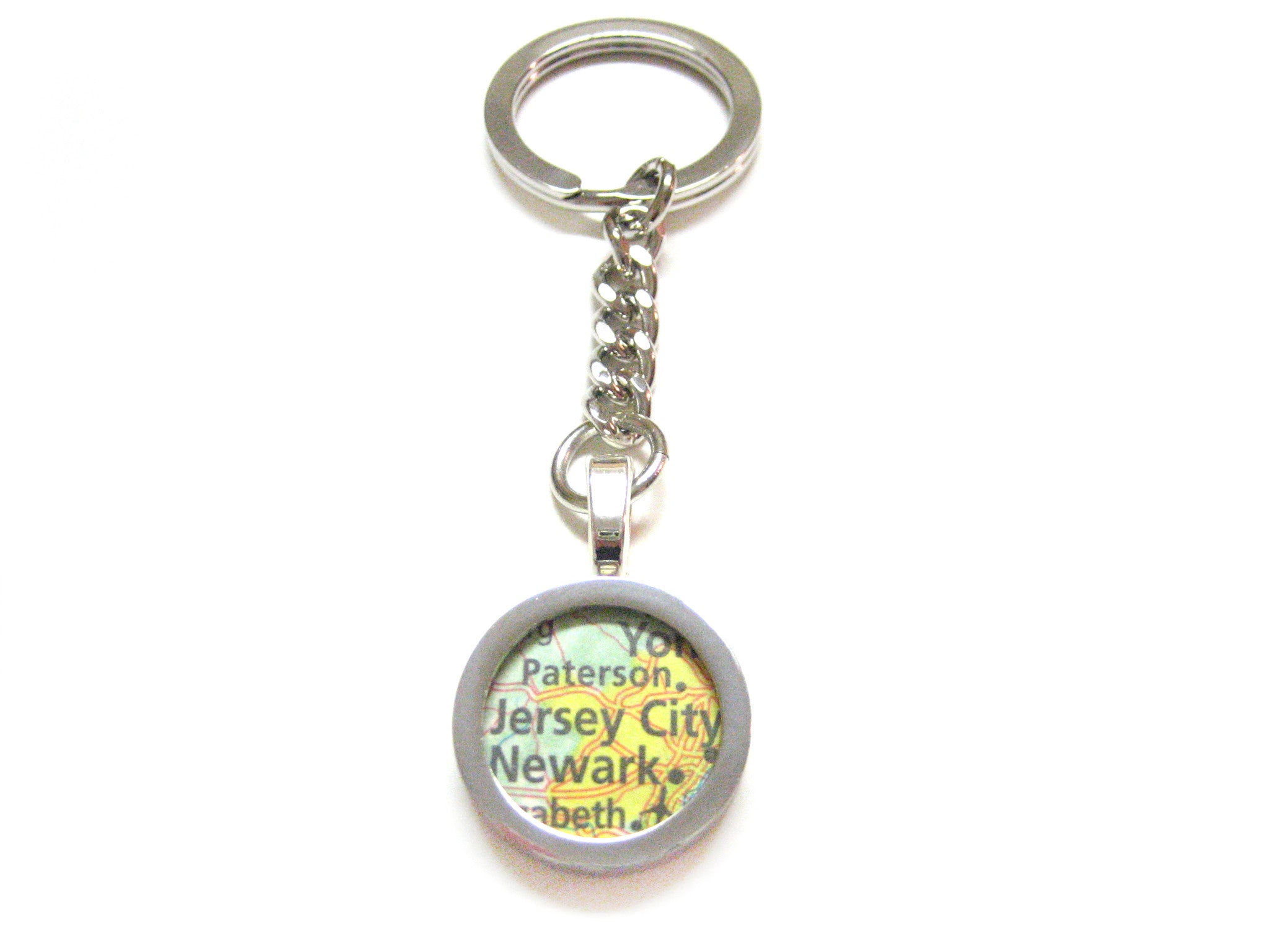 Jersey City New Jersey Map Keychain