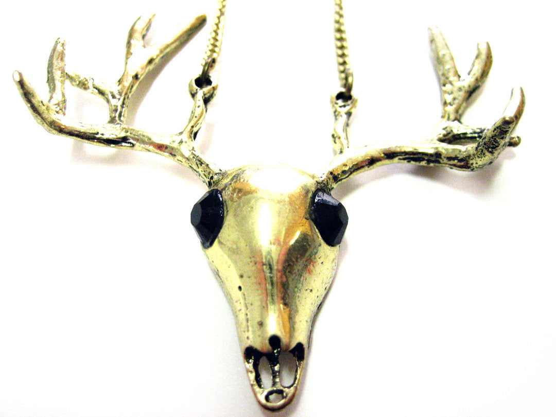 Jeweled Deer Necklace